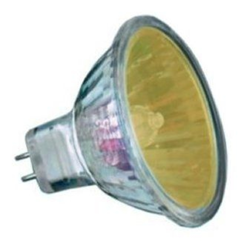 Amber 12v 20w Halogen Mr11 Dichroic Light Bulb