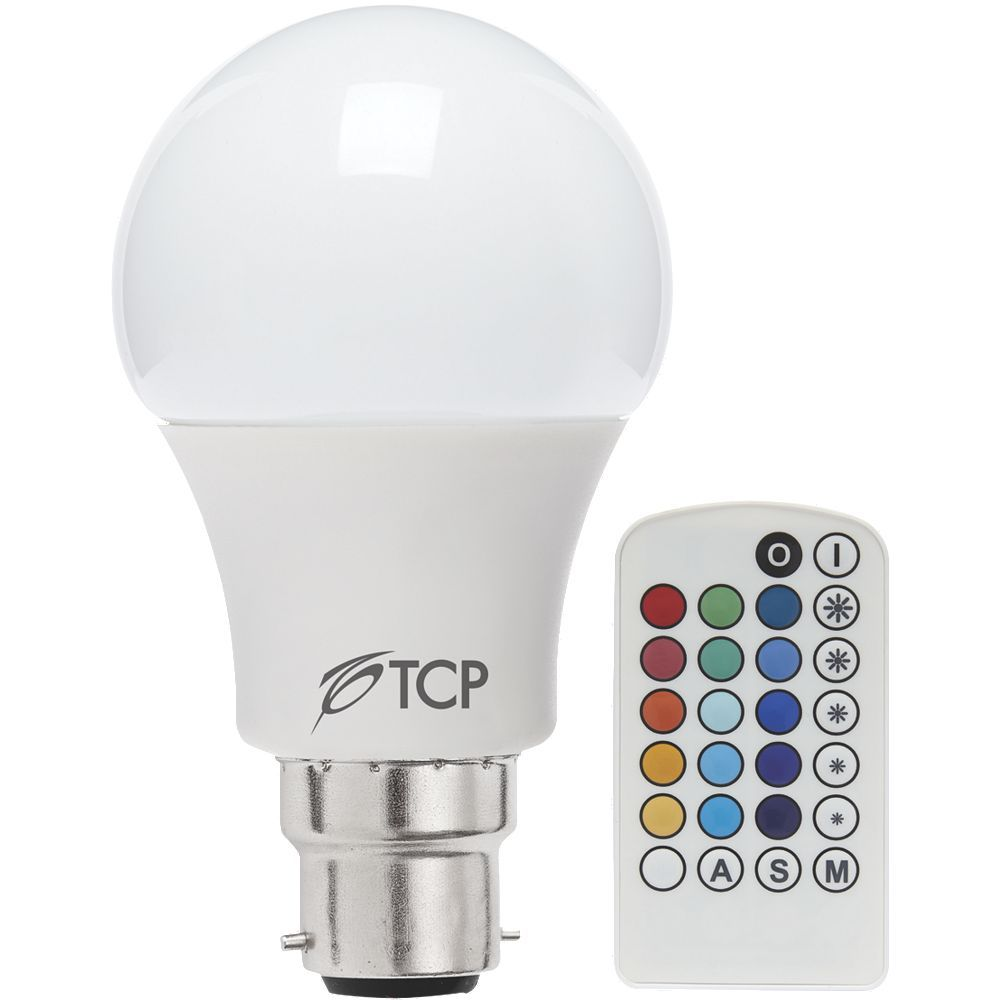 tcp led lamp bulb classic gls colour changing with remote