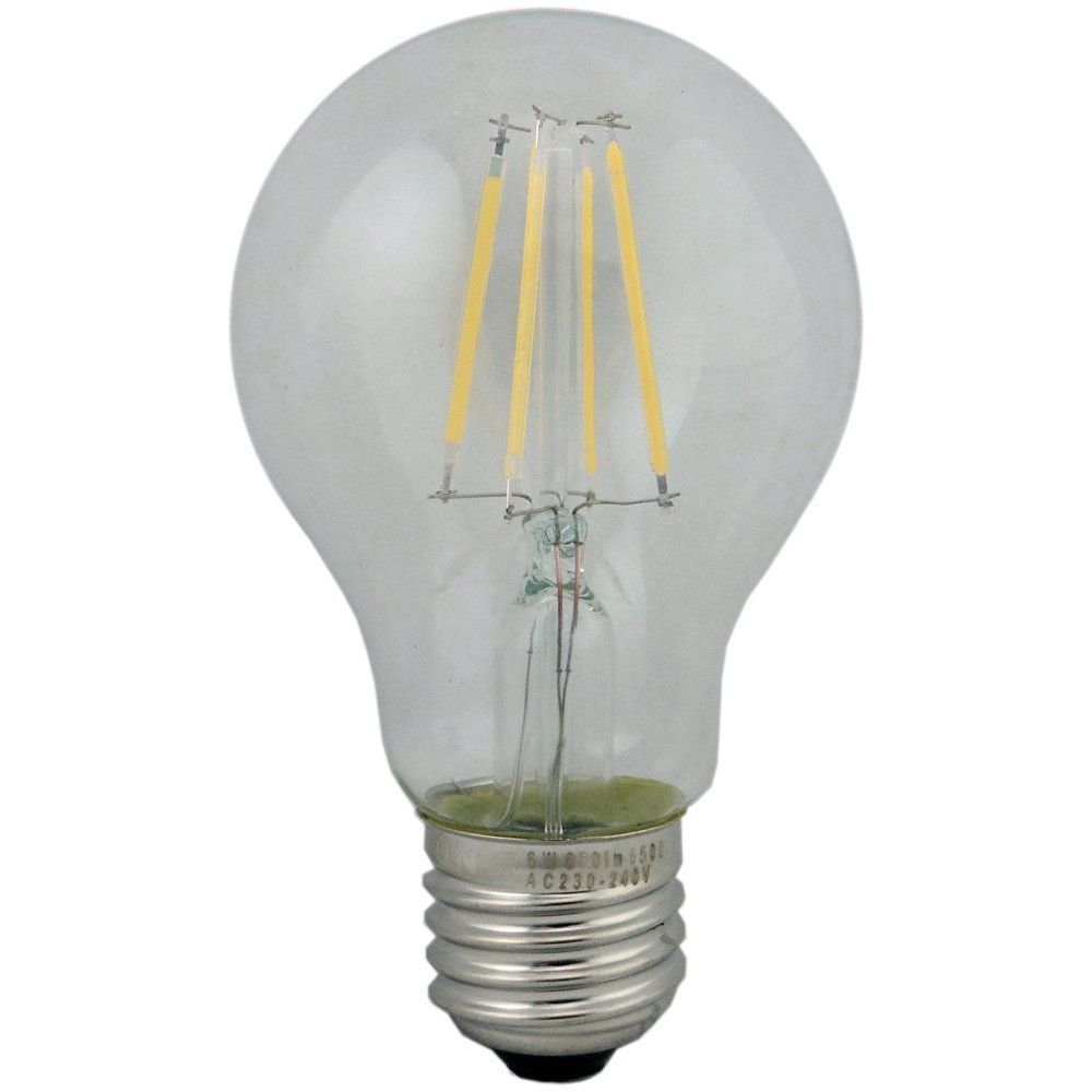 Clear GLS E27 4w LED Filament Lamp 6500k Daylight Non Dimmable