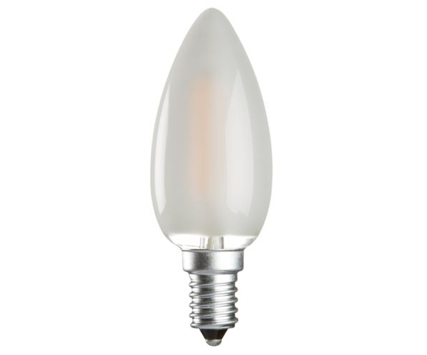 Osram 40w E14 Ses Led Filament Candle Bulb Warm White: Frosted LED Candle 4w(40w) SES/E14 Non Dimmable CL4SESO