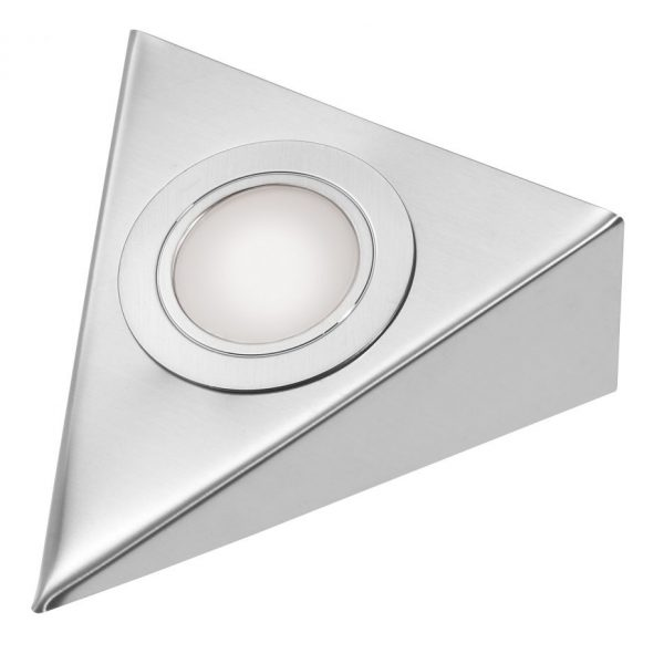 2 Watt 12 Volt Led Round Cabinet Light Fitting Kits Cool: LED Stainless Steel Triangular Under Cabinet Downlighter